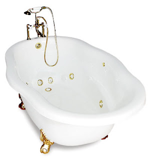 jetted claw foot tub