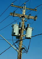 stock image - generic power pole