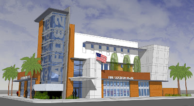 Artist Concept for New LAFD Station 82