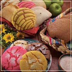 pink and yellow mexican cookies