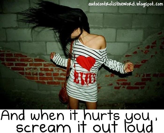 It hurt me