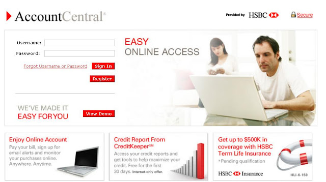 Www.Accountcentralonline.com - HSBC Account Central Online