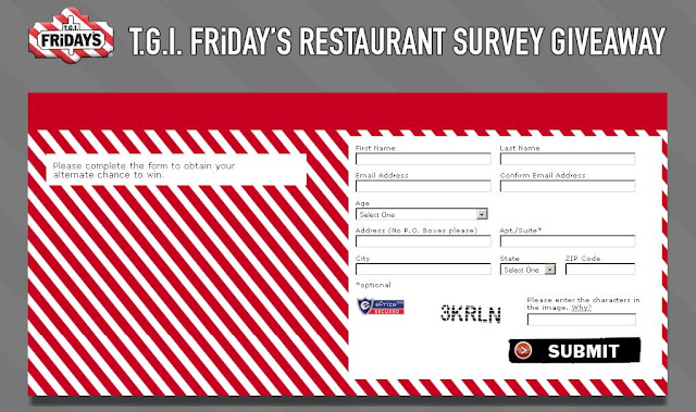 Www.tgifsurvey.com - TGI Friday's Restaurant Survey at tgifsurvey.com