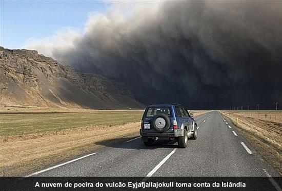 Poeira do vulcão da Islândia
