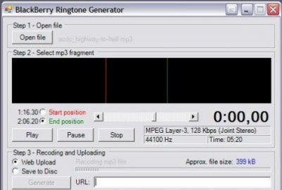BlackBerry Ringtone Generator v2.1