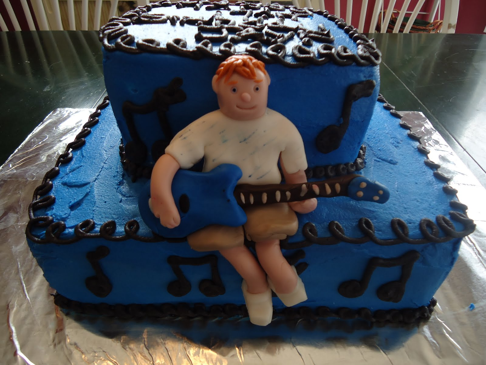 Cats Cake Creations Guitar Boy BIrthday Cake