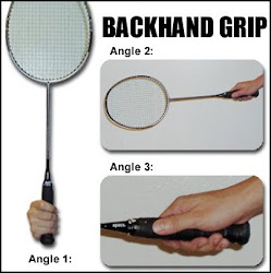 Teknik pegang recket backhand