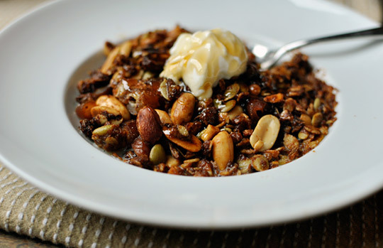 Peanut Butter and Honey Granola from The Ktchen. Make ahead and serve ...