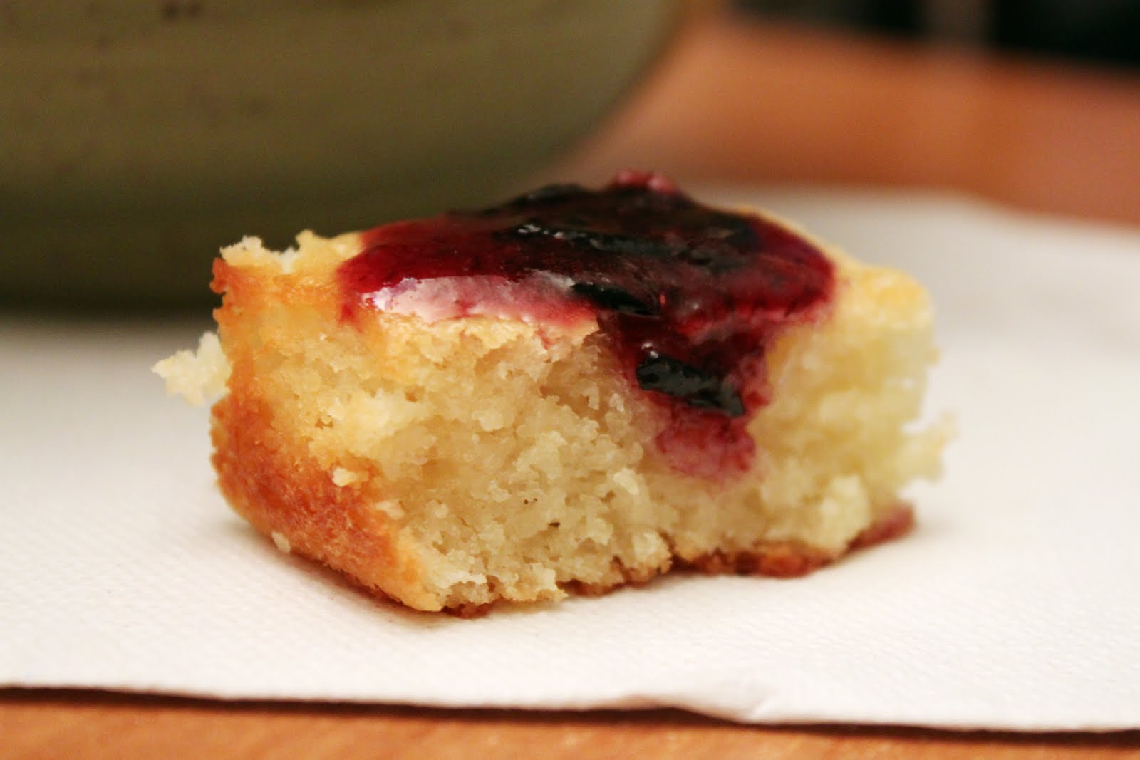 Grace and Peas to you...: Lemon Yogurt Cake with Blueberry Sauce