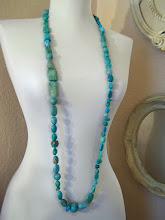 Long  turquoise necklace JW.Style