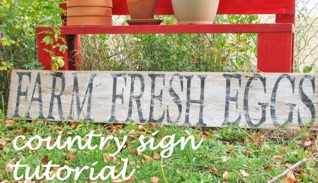 tutorial::how to make a country rustic sign