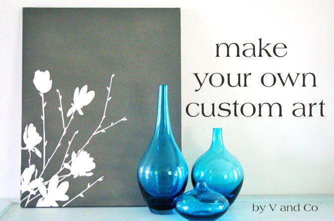 creating canvas art. v and co tutorial  make your own custom art V Co