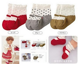 CUTE MARY JANE 3 SOCKS with anti slip