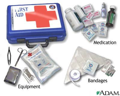 first aid kit Pocket Guide on First Aid