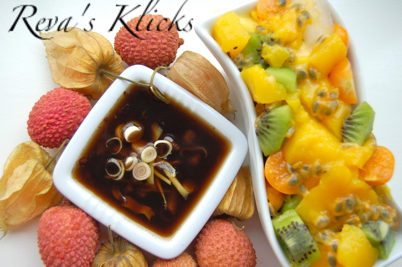 Kaarasaaram: Tropical Fruit Salad with Ginger lemon Grass ...