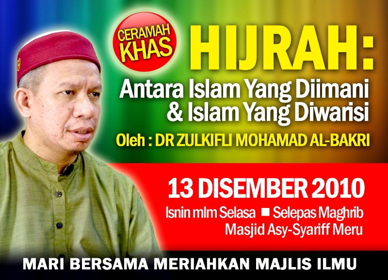 www.mymaktabaty.com Ceramah Khas Hijrah Dr. Zulkifli Muhammad al-Bakri