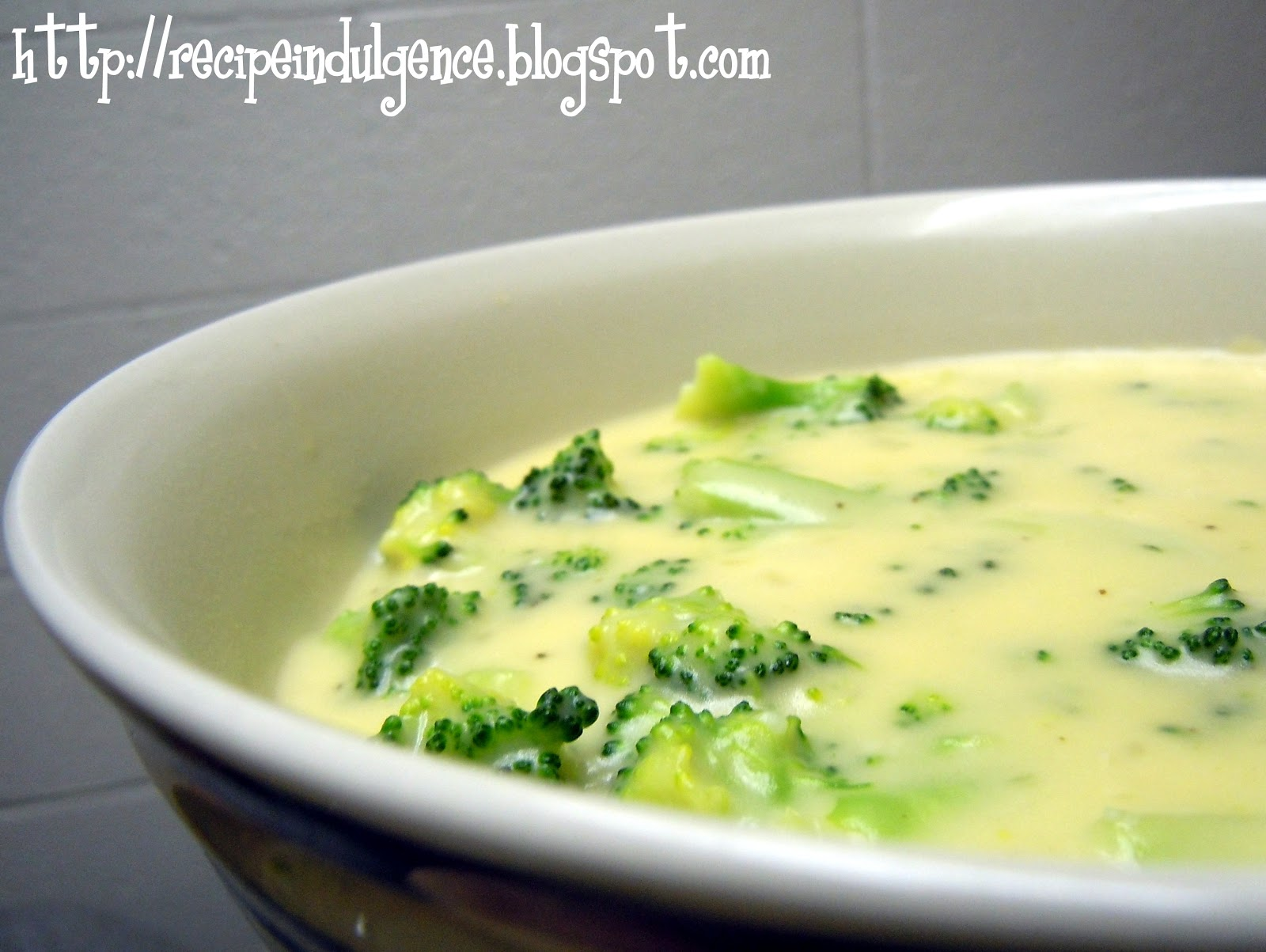 Recipe Indulgence: Broccoli Cheese Soup
