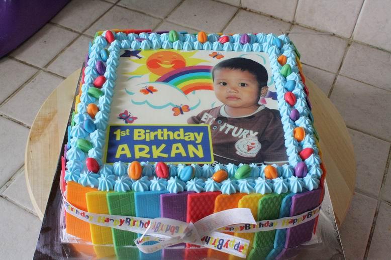 Dapur Pochopa Rainbow Cake Arkan dan Coklat Lolipop