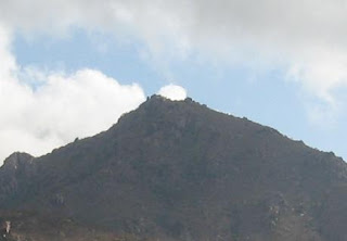Detail of the top of Arunachala