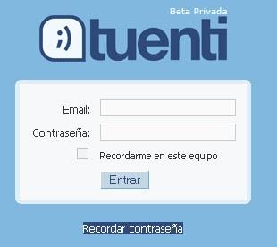 Registrarse en Tuenti