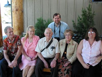 Russell, Karen, Dick, Richard (stooping), Sally and Shellie.  September 9 2006