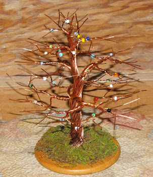 Copper Trees w/Beads