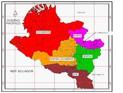Mapa del Departamento de Nariño