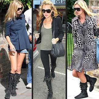 Kate Moss Minnetonka Boot Looks - Pinterest