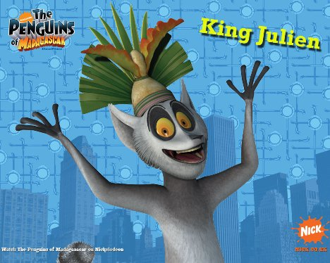 Penguins of Madagascar King Julien Wallpaper