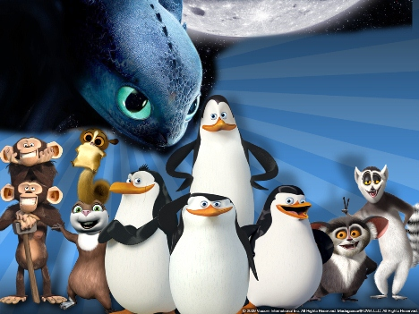 Penguins of Madagascar Toothless invades Wallpaper