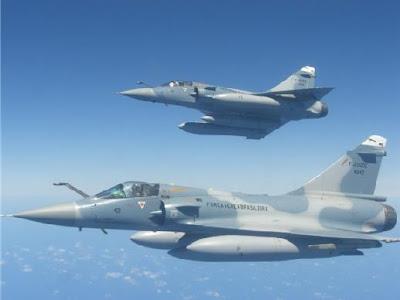Caças Mirage 2000 da FAB.