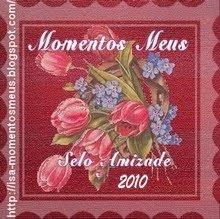 """Recebi da amiga Isa blog """"Momentos Meus"""""""
