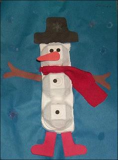 Boneco de neve com forminha de ovo