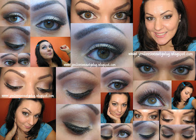 winged eyeliner, false lashes, natural look