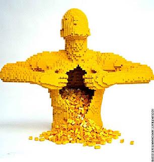 عظمة فن النحت Lego-sculpture