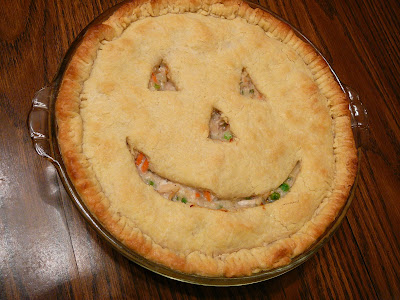 Pumpkin Shaped Chicken Pot Pie