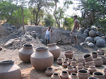 Potters ready to fire their goods