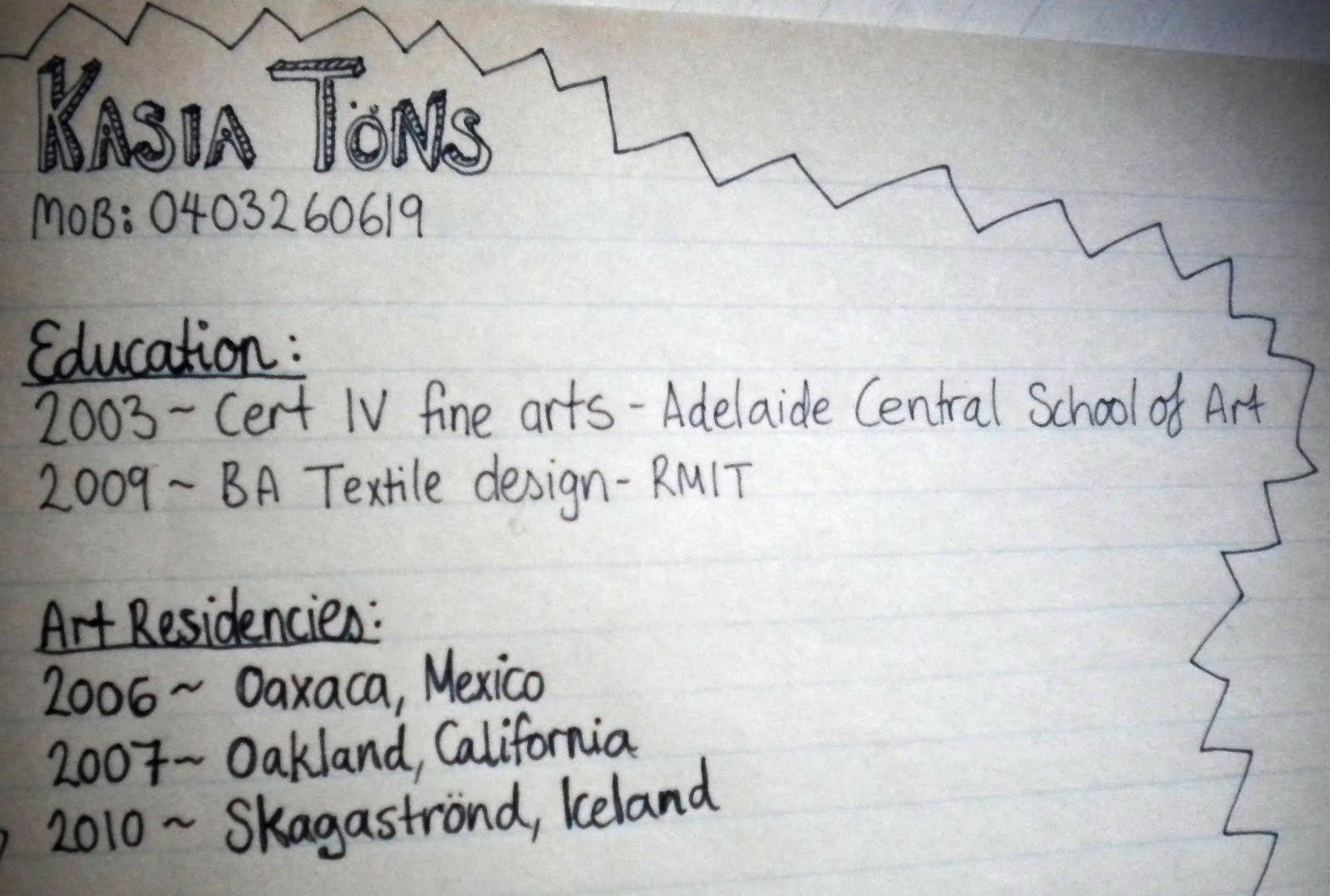 the hand written resume kasia tons afternoon of careful writing i think it was worth it and if i don t get the job i ll just ask for my resume back and i ll re use it