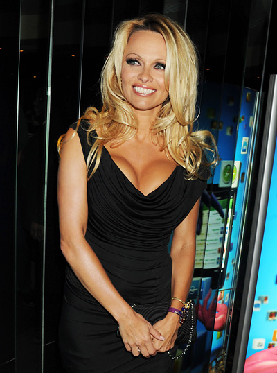 Pamela Anderson Playboy Cummuter Black Short Pamela Anderson 2010 Highlights