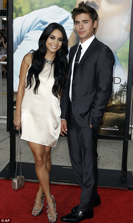 Along way from East High: Vanessa Hudgens and Zac Efron turned out for the