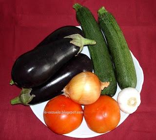 Principales ingredientes para hacer un Pisto o Alboronía. (c)J.Portero