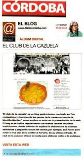 El Club de la Cazuela en Diario Córdoba