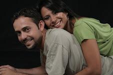 Meu filho Joel e sua esposa Cris.