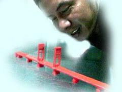 """Miniatur Jembatan """"Legendari"""" Palembang"""