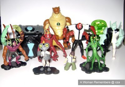 Ben 10 characters toy collection