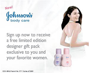 Free Johnson's Body Care Lotion gift pack