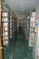 The stack room in the library. This seemed so much longer when I had to inventory it in the summers