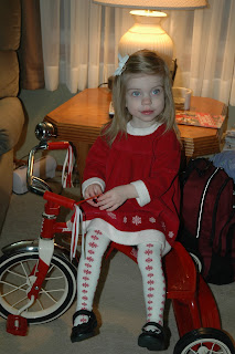 Posing before church
