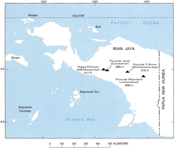 history of geology indonesias last glacier