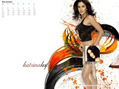 november calendar 2009. Katrina Kaif November 2009